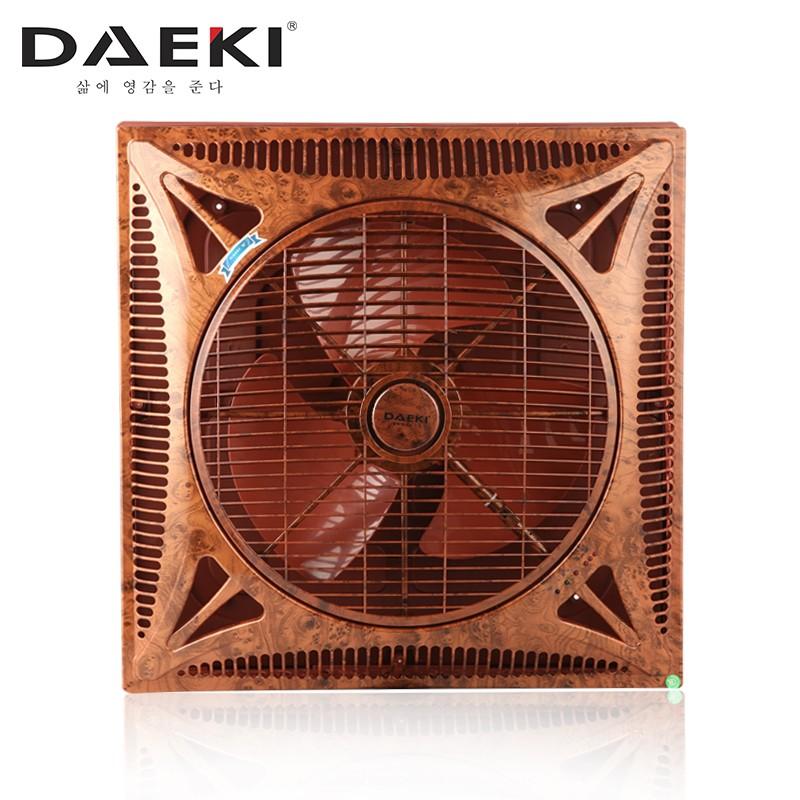 Quạt trần siêu mát cao cấp Daeki - Model DK 301VG02 (Màu vân gỗ 02) - Khiển xa - Đèn Led 3 kiểu sáng.