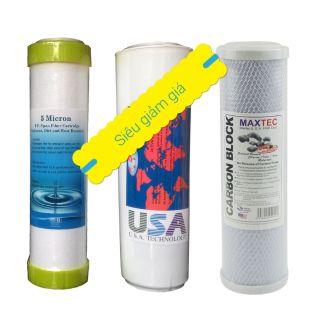 Bộ 3 lõi lọc máy lọc nước 10l/h