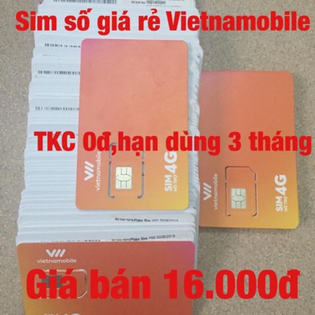 Sim số giá rẻ Vietnamobile 16k 0đ