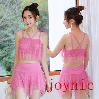 Off-the-Shelf Inventory ❤joynic❤ S——XLHot Spring Swimsuit Women's Split Two-Piece Conservative Student Small Chest Gathered Sexy Fairy Fan Student Slim Swimsuit Fashion Slim-Fit -Comfortable