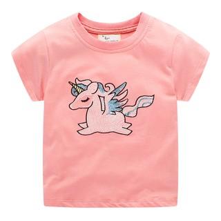 Áo bé gái Jumping Meters AH3 ngựa hồng