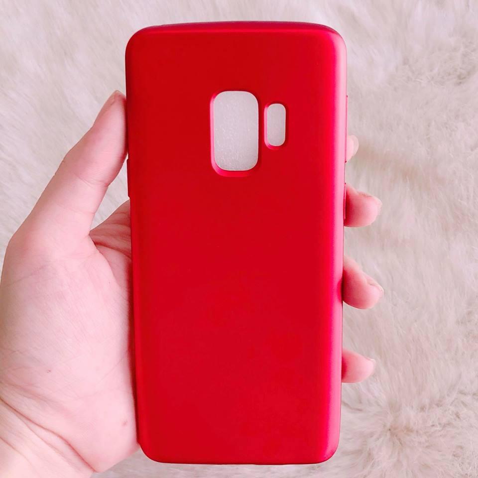 Ốp SAMSUNG S9 đỏ nhung