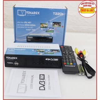 [Chính Hãng DVBT2] Đầu thu mặt đất Vinabox T220s kết nối cho tất cả tivi xem hơn 70 kênh truyền hình thumbnail