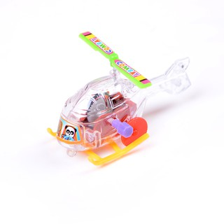 $VN 2Pcs Mini Clockwork Transparent Aircraft Somersault Running Wind Up Toy