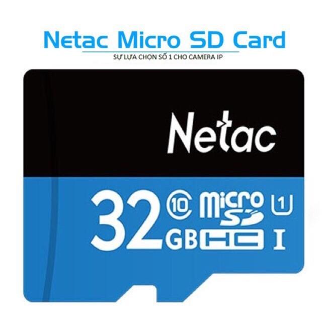 Thẻ nhớ chính hãng NETAC 32GB Bảo hành 5 năm