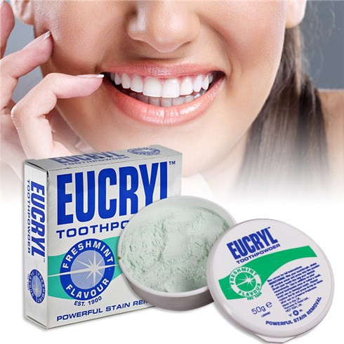 Bột đánh trắng răng Eucryl 50g Hàng Anh Chính Hãng