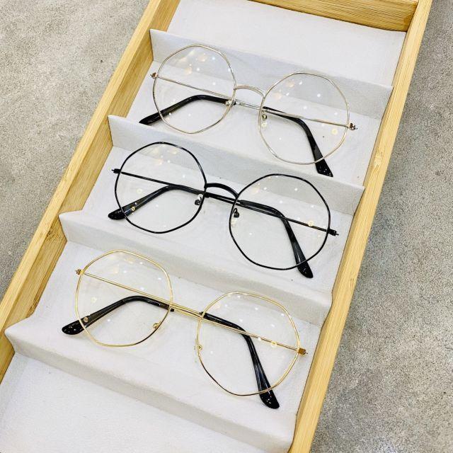 Mắt kính giả cận lục giác hit trend