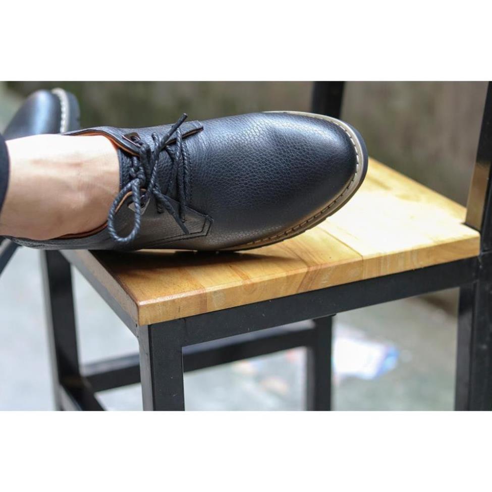 [Sale 3/3]Giày tây nam da bò  trơn đen, trẻ đẹp phong cách lịch lãm -x13