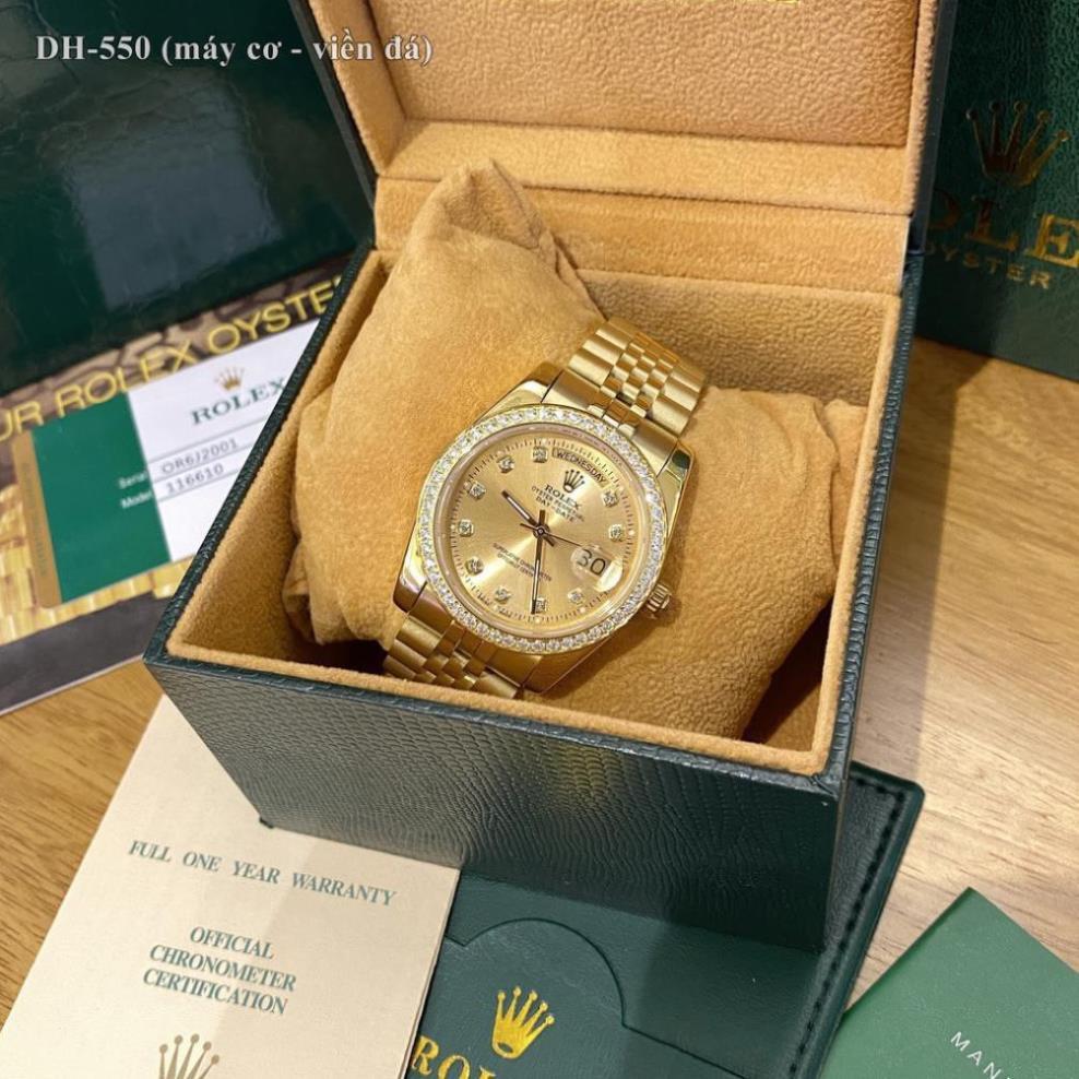 Đồng hồ nam Rolex máy cơ hàng cao cấp chống nước bảo hành 24 tháng tặng combo hộp