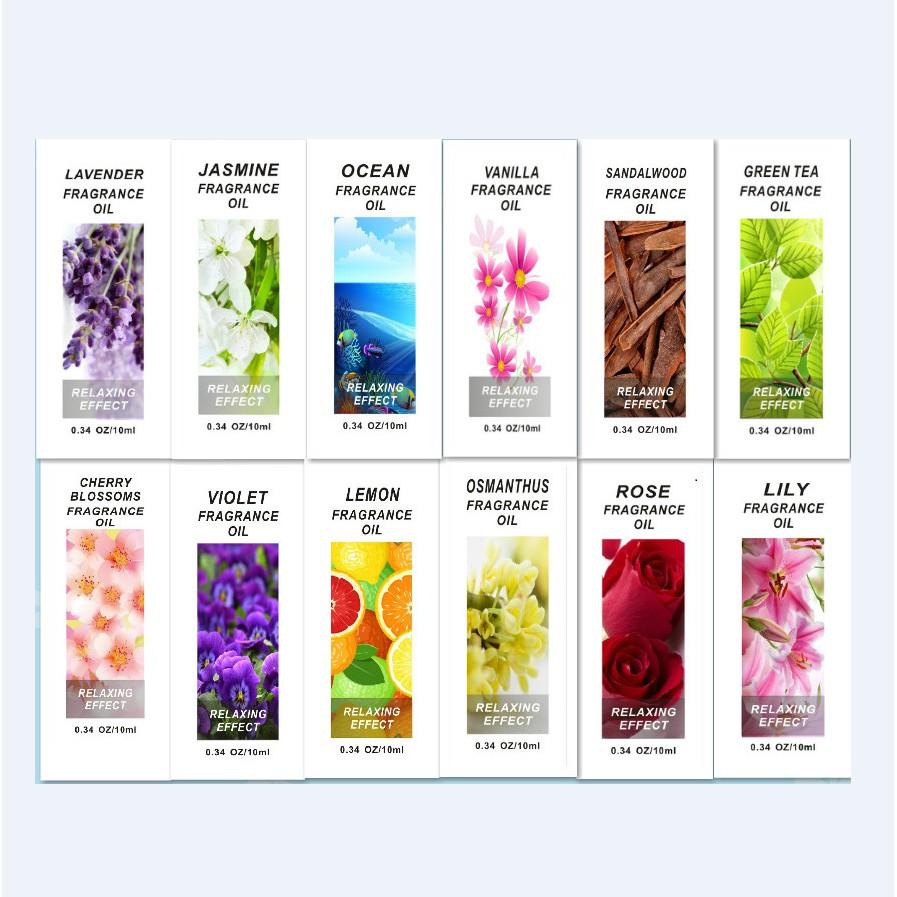 Tinh dầu thơm cho máy tạo ẩm nhiều mùi hương độc đáo giúp tâm trạng tinh thần thoải mái giảm căng thẳng 10ml