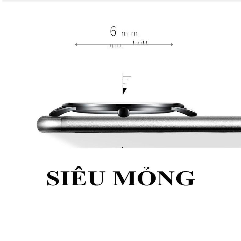 (TRỢ GIÁ KHỦNG) Đồng Hồ Nam FNGEEN Chạy 2 Kim Doanh Nhân 2018 Dây Thép Mành Cao Cấp_Full Box
