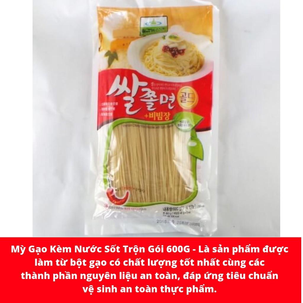 Mì gạo kèm nước sốt trộn Hàn Quốc gói 600gr