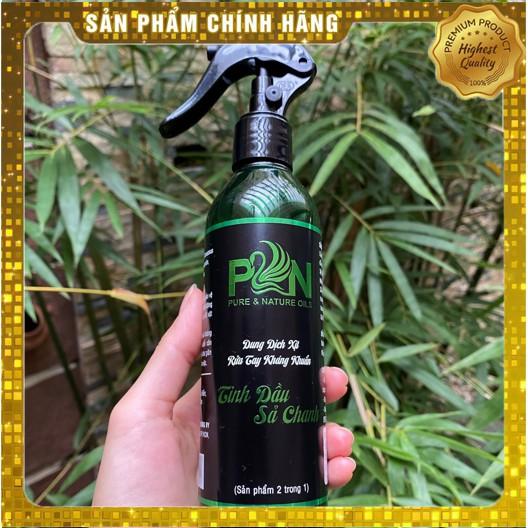 [Chính hãng] DUNG DỊCH XỊT RỬA TAY [KHÁNG KHUẨN 99,9%] PURE & NATURE OILS TINH DẦU SẢ CHANH (2IN1) - 250ml