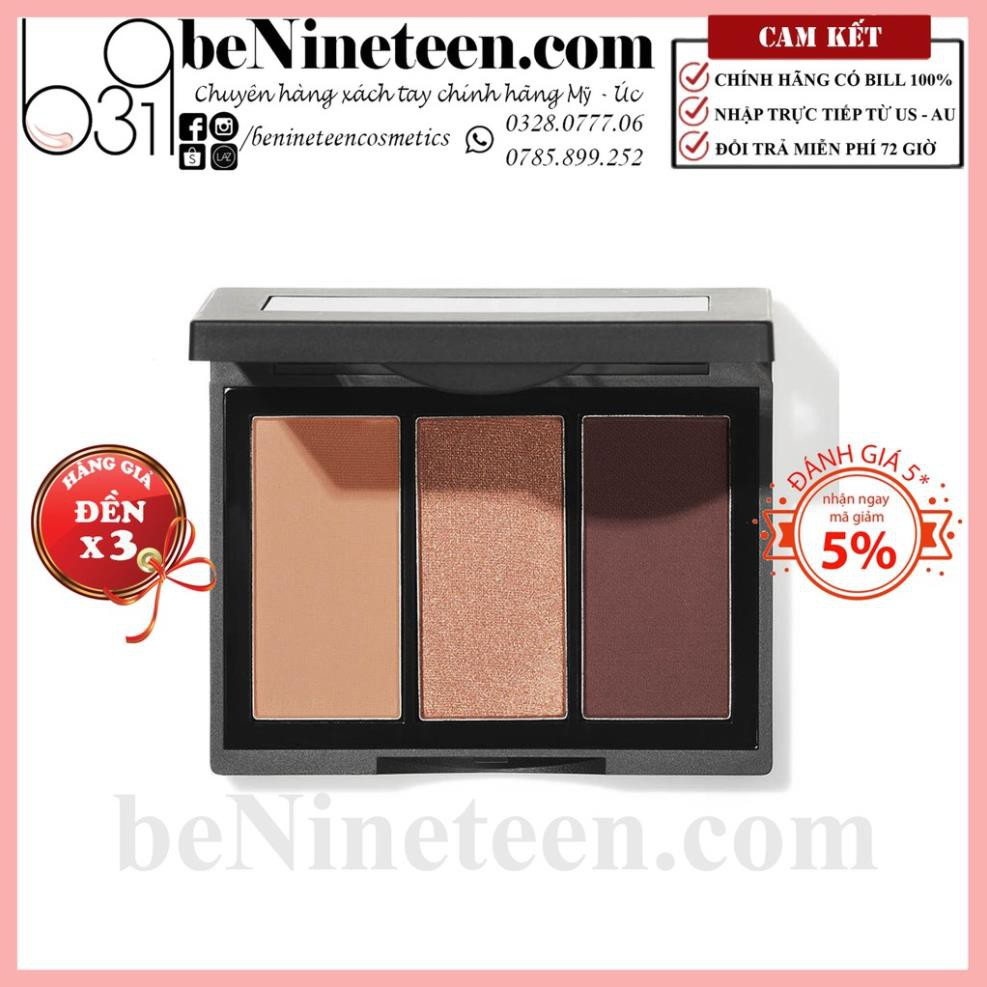 [SALE OFF 50%] Bảng Phấn Mắt 3 màu ELF Sculpting Silk Eyeshadow - Rose All Day [BeNineteen]