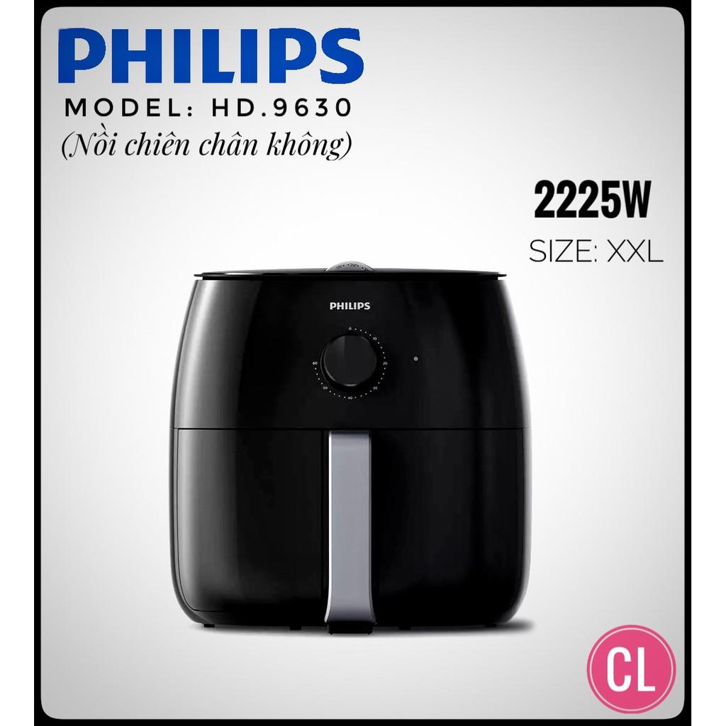 Nồi chiên không dầu Philips HD9630/90 Airfryer XXL hàng nhập khẩu