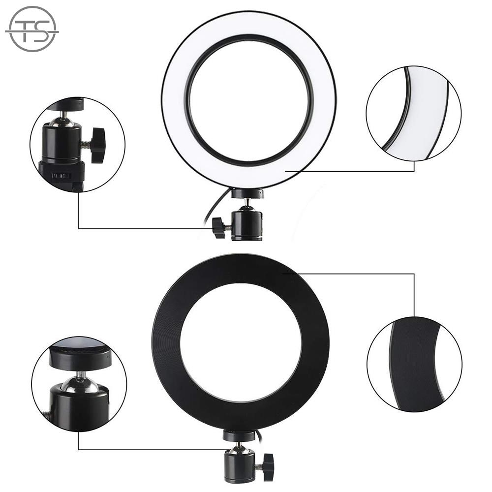 SONG LED Ring Light Ring Light 7.5W 16CM 6inch Dimmable Live Broadcast Universal