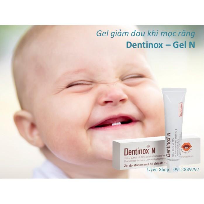 [Mã 267FMCGSALE giảm 8% đơn 500K] Gel bôi giảm đau khi mọc răng cho bé [Nội địa Đức] Dentinox - Gel N