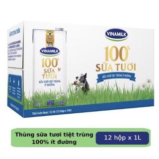 Sữa Tươi Tiệt Trùng Vinamilk 100% Ít Đường 1L