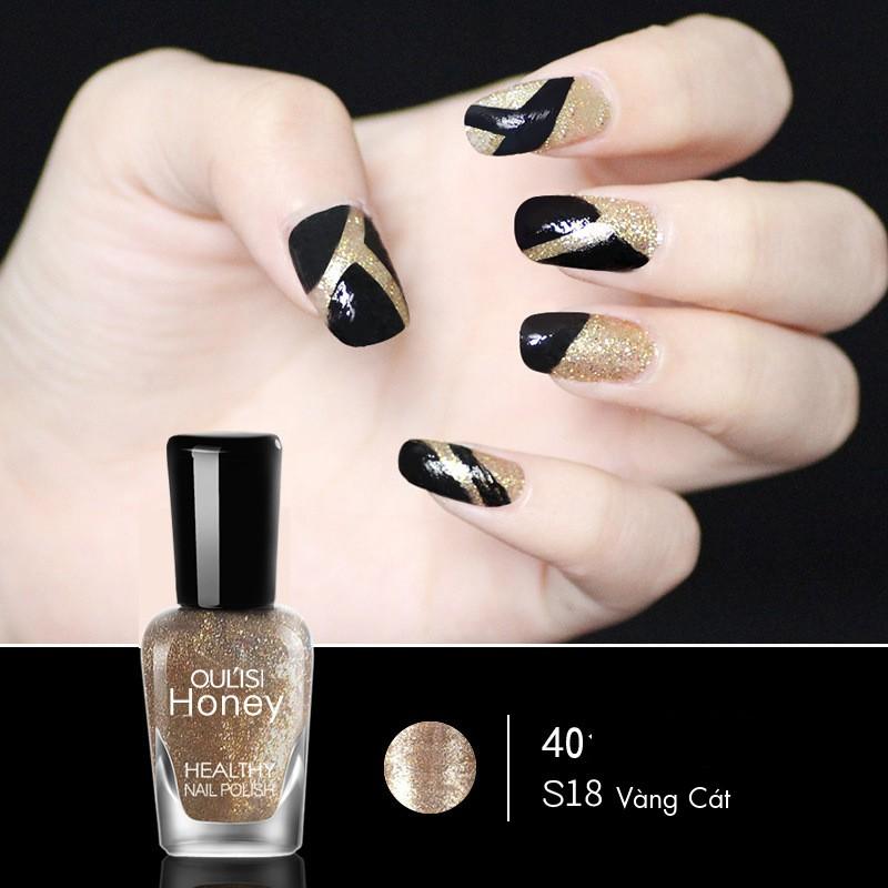 Sơn Móng Tay Cao Cấp HONEY (Sơn Dạng Lột) - Màu Vàng Cát S18