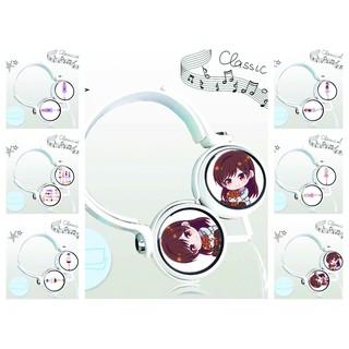 Tai nghe chụp Kanojo, Okarishimasu Dịch Vụ Bạn Gái thiết kế thông minh cá tính cắm dây có mic anime chibi