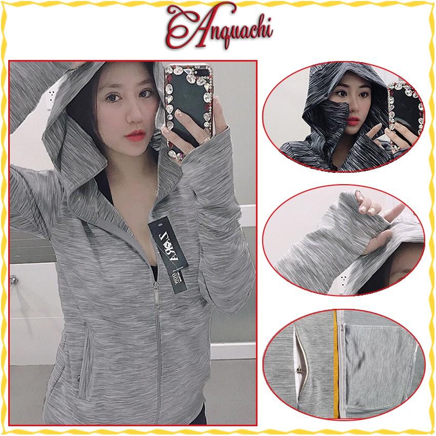 Áo khoác chống nắng co dãn dày dặn chất liệu thun mát lạnh, chống tia UV tốt, dùng được cho cả nam và nữ - Anquachi