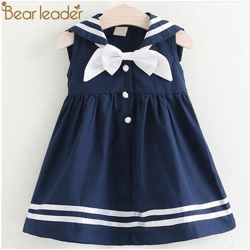 Đầm thủy thủ xinh xắn cho bé gái từ 2-6 tuổi AX796 PL