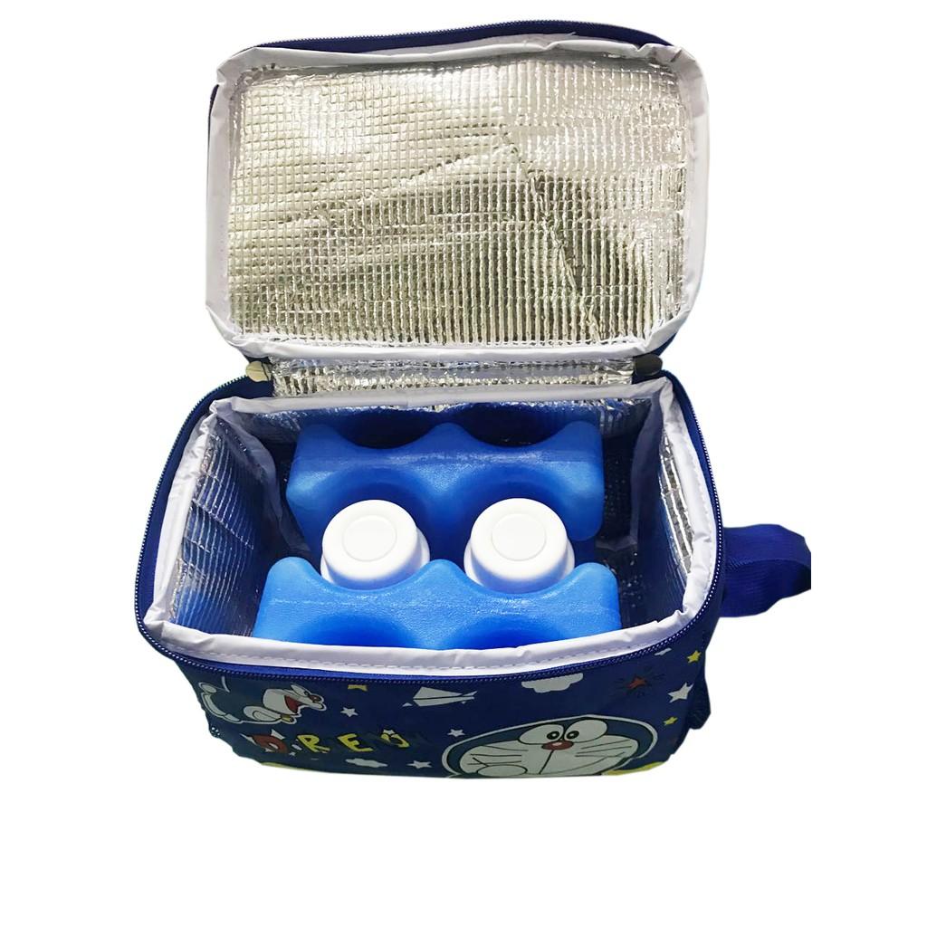 Combo túi giữ nhiệt Doremon + thanh đá võng 2 sóng