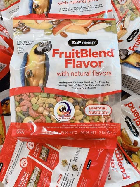 [Mã 267FMCGSALE giảm 8% đơn 500K] Hạt trái cây zuppreem fruitblend cho Vẹt gói 907g