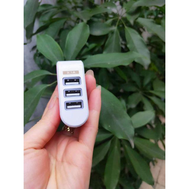 Củ sạc 3 cổng USB tiện dụng