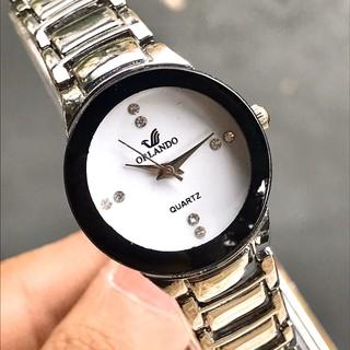 (Giá sỉ) Đồng hồ thời trang nam nữ ORLANDO dây kim loại bạc sang trọng