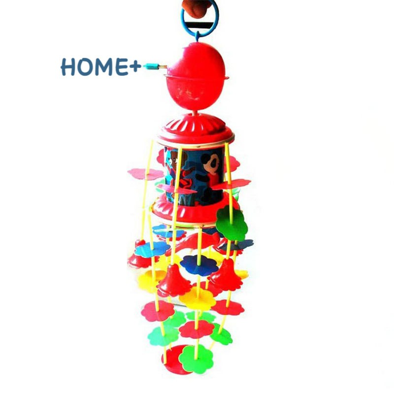 Tsuc Fashion Wind Chimes Rotating Music Kids Toys Plastic Children Crib Bell Bed Hang Decoration 3-6 Years Infant Baby Gift @vn