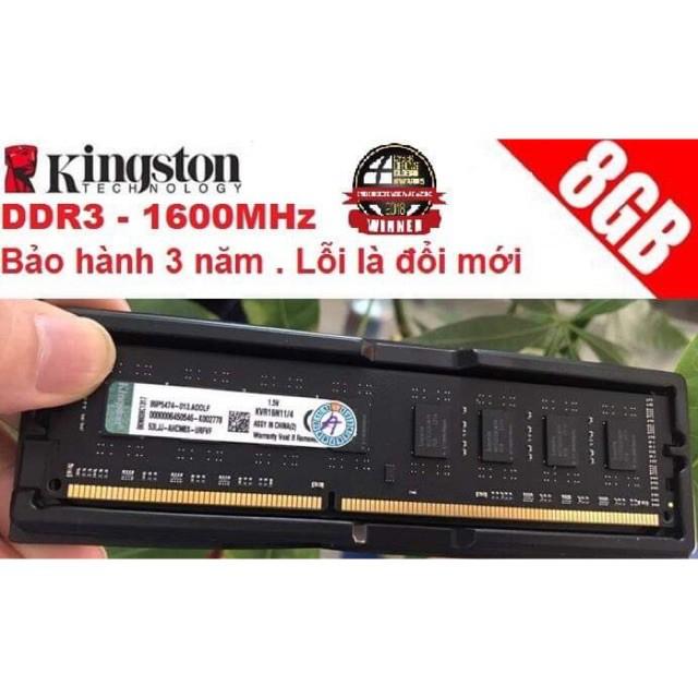 Bảng giá Ram Kingston Ddr3 8Gb Bus 1600Mhz Mới 100% Bảo Hành 36 Tháng Phong Vũ