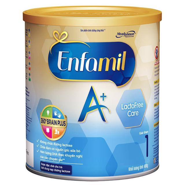 Sữa ENFAMIL A+ LACTOFREE CARE 1 360o Brain Plus 400g