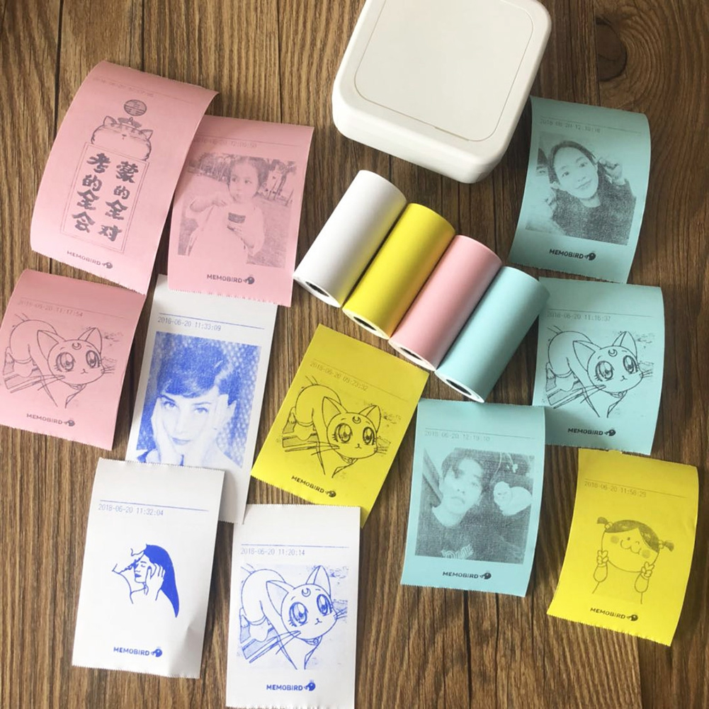4 Pcs/set Thermal Sticker Photo Supermarket Continuous Gift Self Adhesive Paste Printing Paper