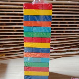 Bộ đồ chơi rút gỗ màu 48 thanh