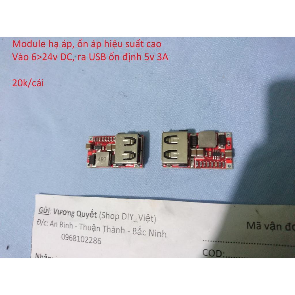 Mạch hạ áp ổn áp USB - 3064267 , 881772563 , 322_881772563 , 20000 , Mach-ha-ap-on-ap-USB-322_881772563 , shopee.vn , Mạch hạ áp ổn áp USB