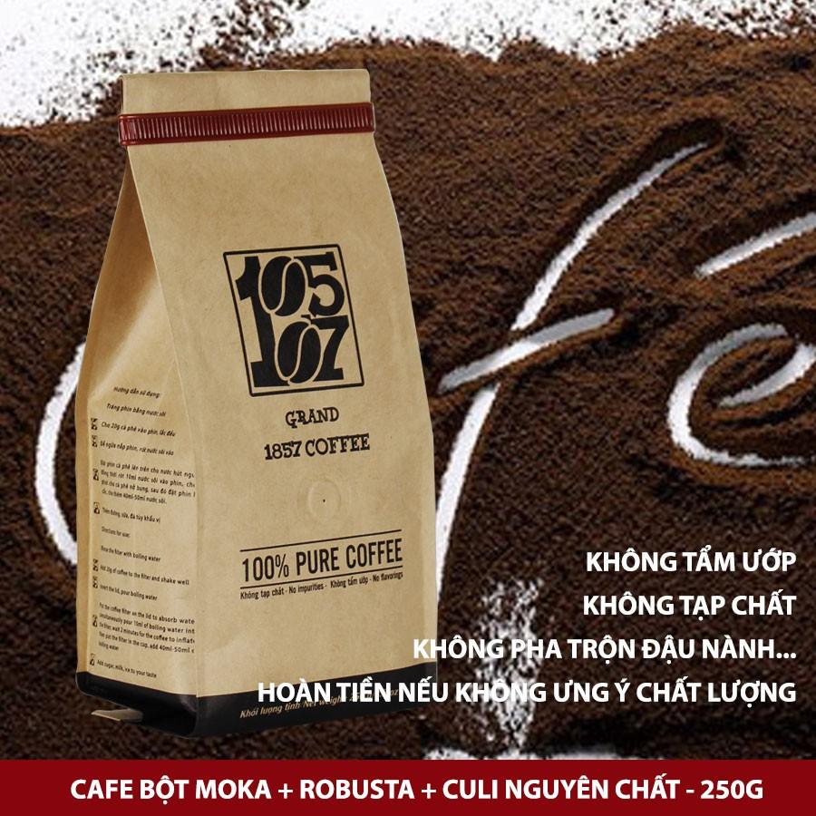 1KG Cà phê bột đặc biệt Moka-Robusta-Culi nguyên chất không pha trộn tẩm ướp hương liệu - grand 1857 coffee