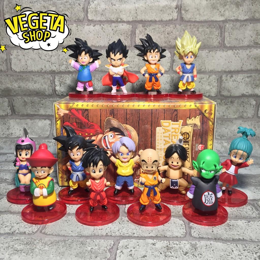 Mô hình Dragon Ball – WCF 13 nhân vật hồi nhỏ tự chọn – Goku Gohan Goten Vegeta Trunks Bulma Piccolo Krillin – Cao 8cm