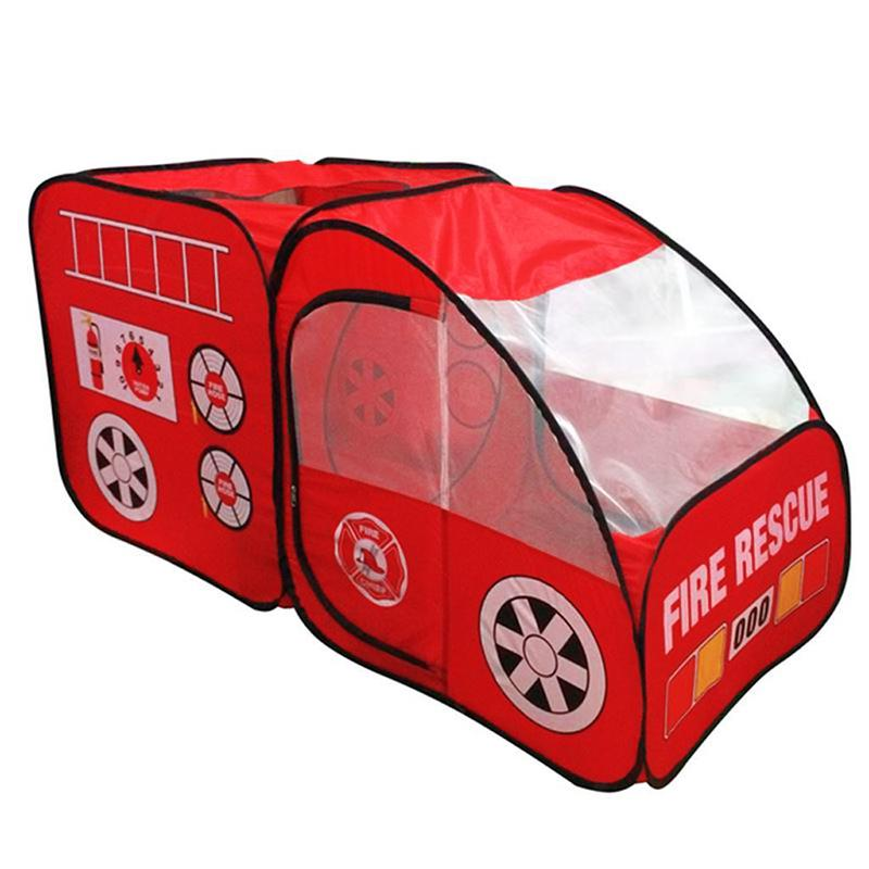 ❤Kids Popup Indoor & Outdoor Fire Truck Car Shaped Ball Pit Play Tent Hut Toy