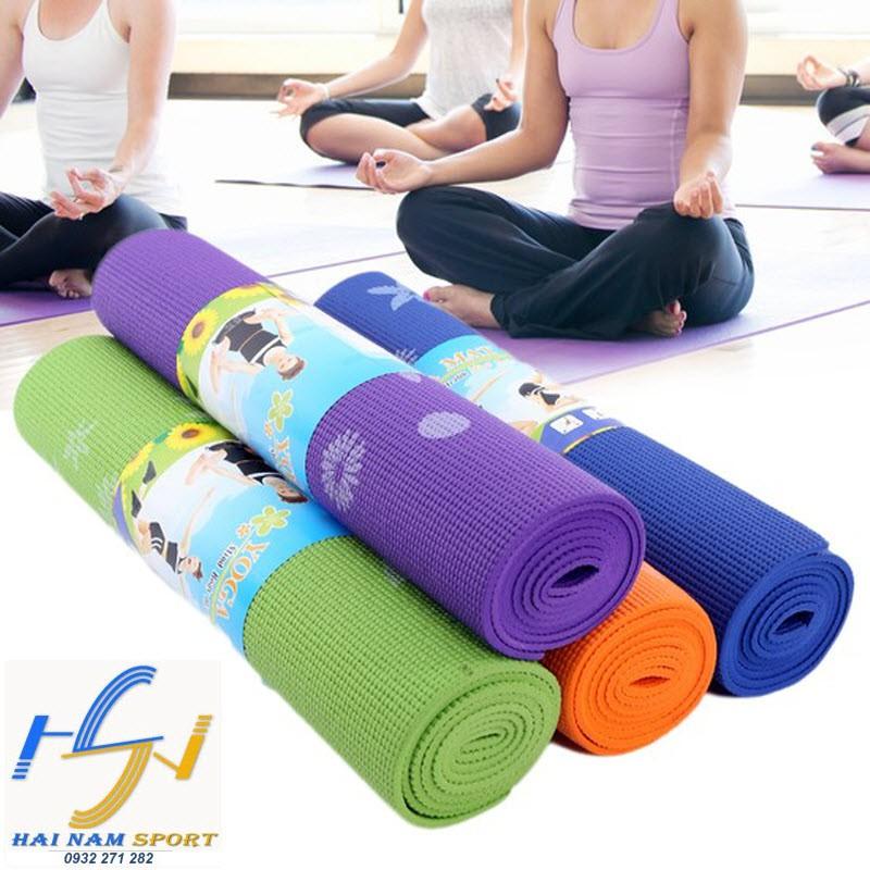 Thảm tập yoga verygood loai 1 có hoa văn giá tốt(kèm túi)