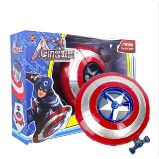 Khiên Captain America bắn đĩa nhựa và chong chóng cho bé thích mê