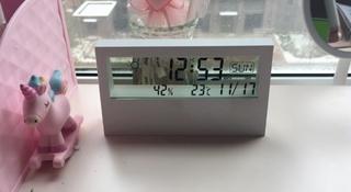 ⛈ ĐỒNG HỒ ĐỂ BÀN trong suốt tích hợp xem giờ, ngày tháng, đo nhiệt độ độ ẩm WATCH
