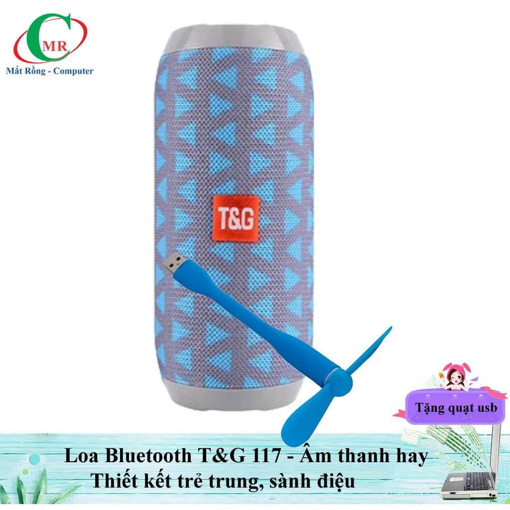 [Tặng quạt USB] Loa Bluetooth TG117 thời trang sành điệu - HOT