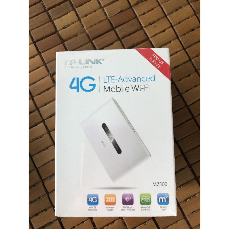 Bộ phát Wi-Fi Di Động dùng sim Cao Cấp LTE 4G TP-Link M7300 (Trắng)