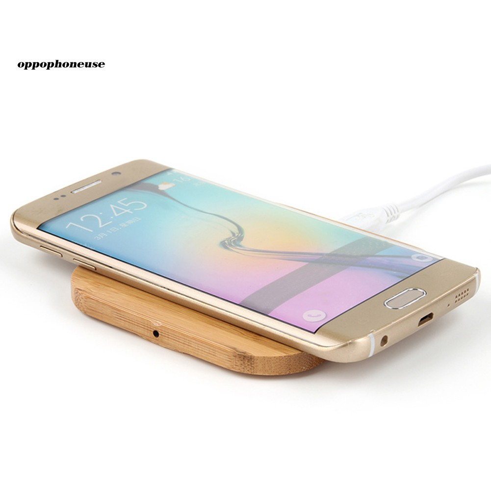 【OPHE】Qi Wireless Charger Slim Wood Pad Charging Mat for iPhone X 8 8 Plus