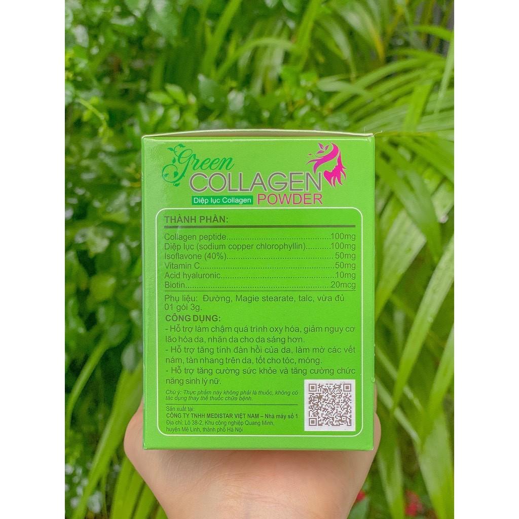 Diệp Lục Collagen Green Collagen Powder