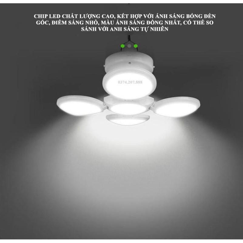 Đèn Led Năng Lượng Mặt Trời 4 Cánh Tích Điện E27, Công Nghệ Chống Nước IP67  - sale