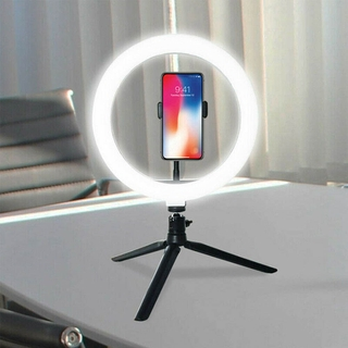 LED Ring Light Studio Photo Video Dimmable Make up Lamp With Tripod Stand Selfie
