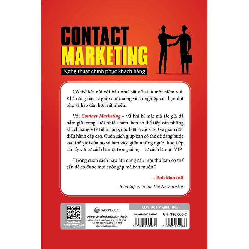 SÁCH: Contact Marketing - Nghệ thuật chinh phục khách hàng - Tác giả Stu Heinecke