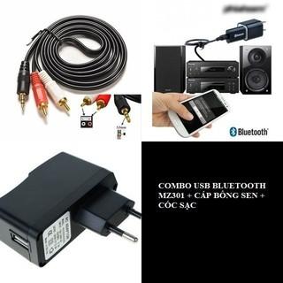 COMBO USB BLUETOOTH MZ301 + CÁP BÔNG SEN + CÓC SẠC